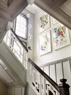 Eclectic Modern Tudor Entry Stair - eclectic - staircase - boston - LDa Architecture & Interiors