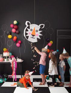 DIY Tiger Piñata (via the new Playful book by Merrilee Liddiard)