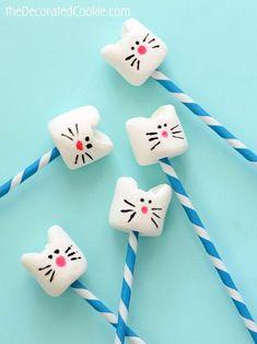 simple kitty cat marshmallows #CatBirthday