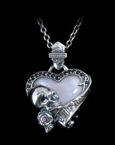 Harley Davidson by Thierry Martino PSHW Heart Pendant Necklace