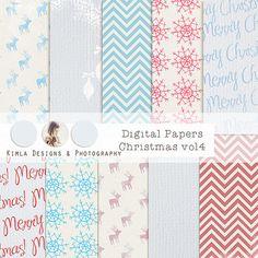 Digital Scrapbooking Papers pack12x12in jpg 300dpi by KimlaDesigns, $5.00