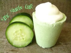 Cucumber Melon bath bomb smoothie mothers day gift by TheSudsCafe, $2.99
