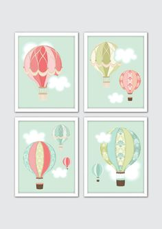 Awesome Etsy listing at https://www.etsy.com/pt/listing/246415540/hot-air-balloon-nursery-art-hot-air