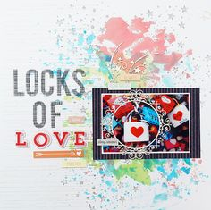 Seungeun Lee's craft room: Scrapbooking 'Locks of love' Scrapbook Pages, Scrapbooking, Studio Calico, Independence Day, Locks, Stripes, Connect, Cards, Inspiration
