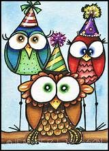 Better owls for the pin the hat on the owl game. I can draw/paint these. Owl Art, Bird Art, Owl Doodle, Whimsical Owl, Crazy Bird, Cute Owl, Copics, Illustrations, Art Lessons