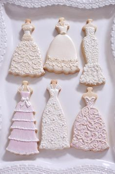 Items similar to 10 Mermaid Gown Cookies-Lace Wedding Dress Cookies, Bridal Shower Cookies, on Etsy Fancy Cookies, Iced Cookies, Cute Cookies, Royal Icing Cookies, Sugar Cookies, Frosted Cookies, Decorated Cookies, Wedding Dress Cookies, Wedding Dress Cake