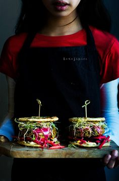 Fava Bean and Amaranth Shoarma Naan Sliders with Hummus | Box of Spice
