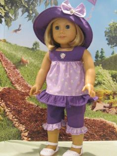 """""""Summer Fun"""" for Grace, Julie, Kit, Molly, Etc. 18"""" American Girl Doll Clothes #Handmade #DollClothes"""