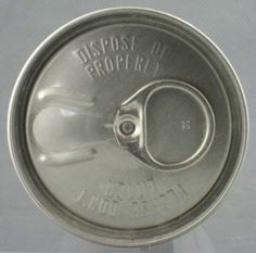 Pull tab cans. Thanks to my dad's relentless imbibing (and probably some of my own!) I had chains of these strung across my bedroom doorway back in the 70's  {GM}