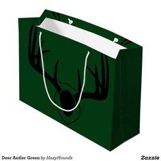 Deer Antler Green Large Gift Bag http://www.zazzle.com/deer_antler_green_large_gift_bag-256497310905948277?CMPN=shareicon&lang=en&social=true&view=113754553934008486&rf=238588924226571373