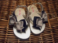 Metallic Silver Toddler/Girl Flip Flop Sandals by AvelinCreations, $14.00