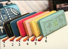 6 colors leather long wallet leather wallet fasion by linxl2014, $19.00