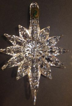 Waterford Crystal Annual Snowstar Ornament With Enhancer