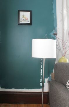 Benjamin Moore Dragonfly - good posts on the decision to get to the right turquoise color - love how this looks with wood trim *