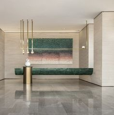 hotel reception Hotels are magical places. Get ins - hotel Hotel Reception Desk, Reception Desk Design, Lobby Reception, Reception Counter, Modern Reception Desk, Reception Areas, Plan Hotel, Interior Design Living Room, Interior Decorating