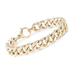 Ross-Simons - Italian 14kt Yellow Gold Curb Link Bracelet - #848583