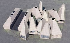 Image 1 of 33 from gallery of ORDOS 100 #7: MOS Architects. Futuristic Architecture, Concept Architecture, Iceland Museum, Mos Architects, Solar Chimney, Florence Tuscany, House Layouts, Another World, Minimalist Home