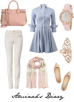 """"""" Blue """" Outfit and On Polyvore"""