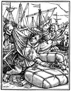 Artist: Holbein d. J., Hans, Title: »The Dance of Death« 29, The Merchant, Date: 1524-26