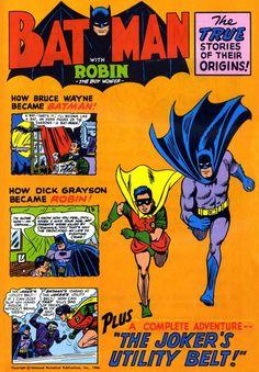"Batman with Robin the Boy Wonder #1 - The Legend of Batman--and Robin...; ""The Joker's Utility Belt!"" (Issue)"