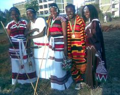 Oromo men and women, beautiful people and their culture, Oromia, East Africa.