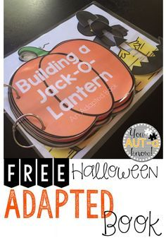 Building a Jack-O-Lantern is a fun Halloween themed Adapted Book. Students build a Jack-O-Lantern piece by piece in this free book! Speech Activities, Language Activities, Classroom Activities, Halloween Speech Therapy Activities, Classroom Ideas, Life Skills Classroom, Autism Classroom, Future Classroom, School Classroom