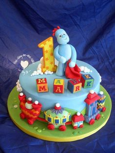 Iggle Piggle, in the night garden theme cake - Cake by icingbyjo