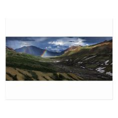 Abstract mountains landscape Alaska Postcard - christmas cards merry xmas diy cyo greetings