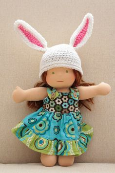 Make a bunny hat for their doll to match their Easter outfit.  Check out the crochet pattern by @turtlekeeper-designs