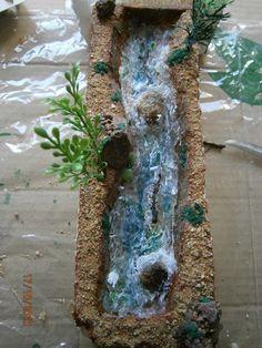 Foro de Belenismo - Agua -> Prueba para río de silicona.