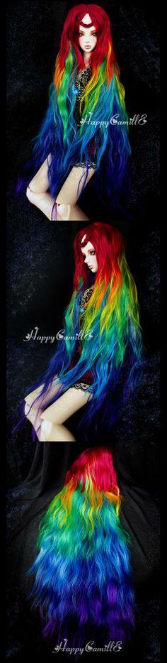 BJD Wigs - Rainbow Elf  Gorgeous wig!