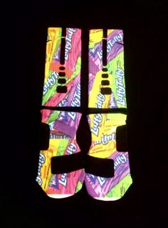 6bc5956c2 Laffy Taffy Custom Nike Elite Socks   Art Socks from Sock Insanity