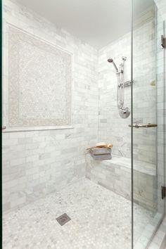Beautiful Bathroom Design with Glass Shower Enclosure