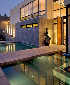 This custom reflecting pool was constructed by the experts at Colorado Pools Unlimited.