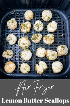 These Easy Air Fryer Scallops are cooked to perfection and seasoned with a lemon herb butter and olive oil sauce. Feel free to use sea or bay scallops and either fresh or frozen in this recipe. Air Fry Recipes, Fish Recipes, Lunch Recipes, Breakfast Recipes, Dessert Recipes, Air Fried Food, Lemon Herb, Air Fryer Healthy, Scallop Recipes