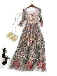 Gauze Dress, Mesh Dress, Tulle Dress, Chiffon Dress, Fashion Vestidos, Fashion Dresses, Dance Dresses, Bridal Dresses, Party Dresses