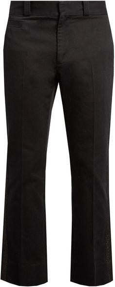 MARC JACOBS Metallic-stripe straight-leg cotton trousers