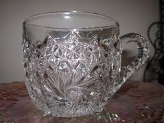 "EAPG 15150  U. S. Glass,Comet in the stars Punch cup ""ART CUT"""