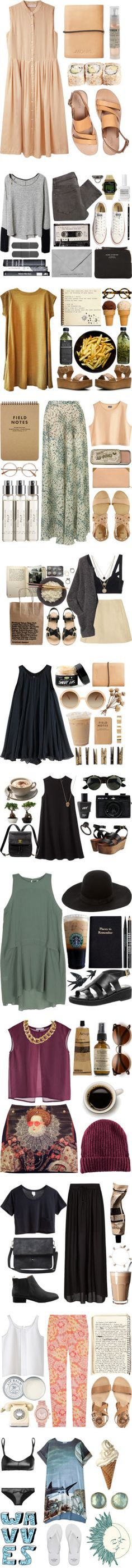 """Winning sets from my group's past contests!"" by vv0lf ❤ liked on Polyvore"