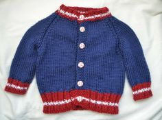 Red Sox Knit Varsity Sweater- front...with pattern links - cat eyed KP
