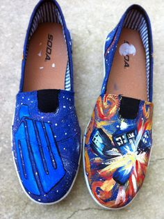 Doctor Who Painted Shoes (on Etsy)