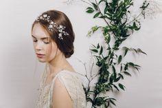 Scarlett crystal flower hair vine with Saffron hair pins