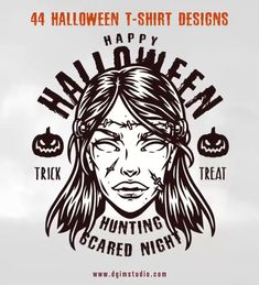 Monochrome Halloween vector illustrations of high vector quality. Ready to be printed on any items and surfaces. 100% vector with editable text.