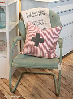 great color & patina on that chair - urban farmgirl: just a little peek around the shop...