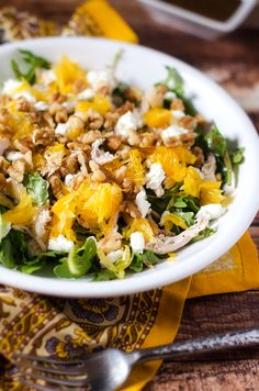chicken arugula salad with oranges and goat cheese chicken arugula ...