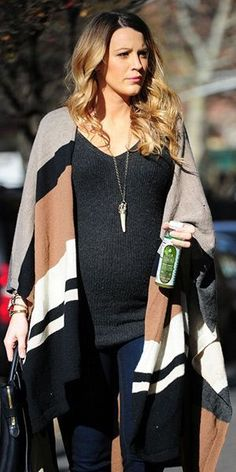 Blake Lively Winter Pregnancy Style