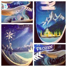 Disney painted shoes, Frozen theme