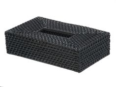 Rectangular Rattan Tissue Box Cover