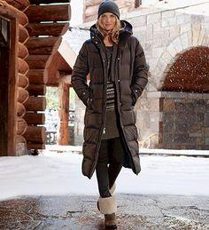Eddie Bauer Womens Essential Down Duffle Coat, Cocoa XS Petite ...