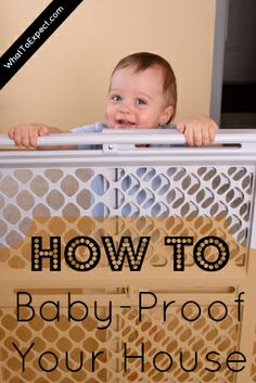 How to baby-proof your house so it's a safe space for your little one